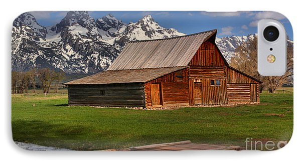 A Barn In The Tetons IPhone Case by Adam Jewell