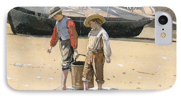 A Basket Of Clams IPhone Case by Winslow Homer