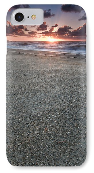 A Beach During Sunset With Glowing Sky IPhone Case