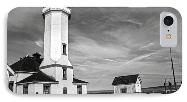A Beacon Of Light - Bw Phone Case by Kerry Langel