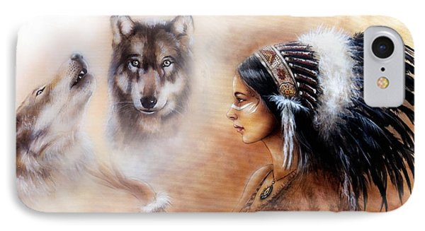 A Beautiful Airbrush Painting Of A Young Indian Woman Wearing  IPhone Case