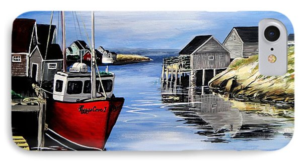 A Beautiful Day At Peggy's Cove  IPhone Case by Patricia L Davidson