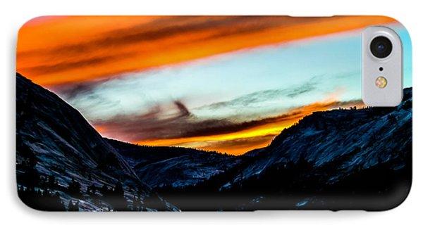 A Beautiful Jet Stream At Sunrise Phone Case by Brian Williamson