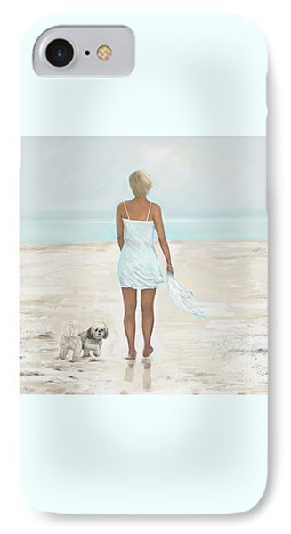IPhone Case featuring the painting A Beautiful Walk by Leslie Allen