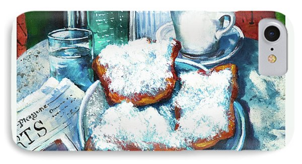 A Beignet Morning Phone Case by Dianne Parks