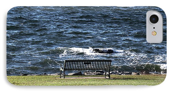 IPhone Case featuring the photograph A Bench By The Sea by Tom Prendergast