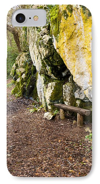 A Bench In The Woods Phone Case by Rae Tucker