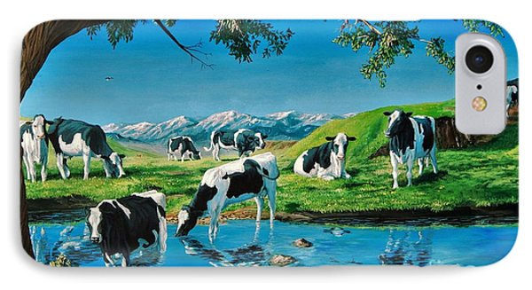 A Black And White Field IPhone Case by Ruanna Sion Shadd a'Dann'l Yoder