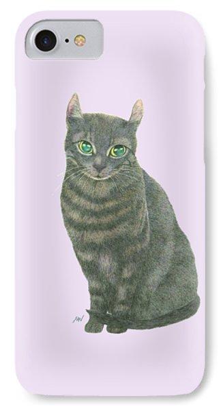 A Black Cat Phone Case by Jingfen Hwu