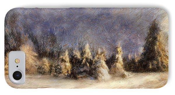 A Blizzard Of Light IPhone Case by Lois Bryan