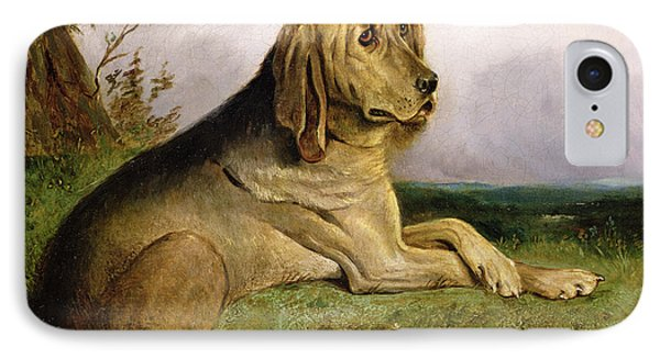 A Bloodhound In A Landscape Phone Case by English school