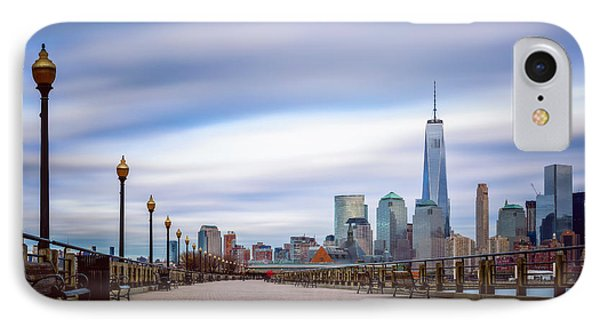 IPhone Case featuring the photograph A Boardwalk In The City by Eduard Moldoveanu