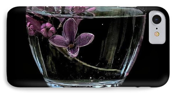 A Bowl Of Lilacs IPhone Case by Marija Djedovic