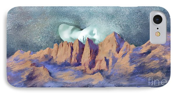 IPhone Case featuring the painting A Breath Of Tranquility by Sgn