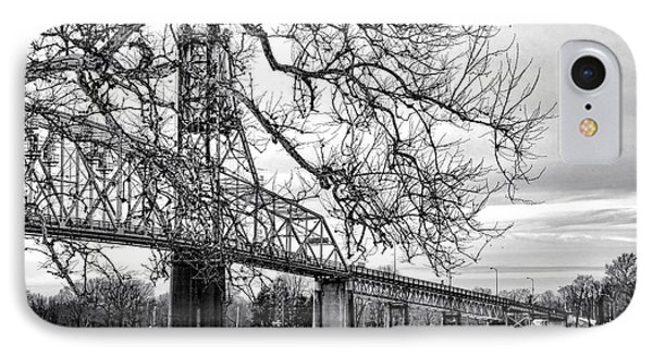 A Bridge In Winter Phone Case by Olivier Le Queinec
