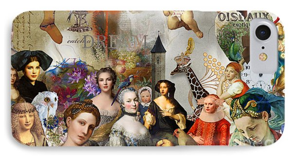 IPhone Case featuring the digital art A Brief History Of Women And Dreams by Nola Lee Kelsey