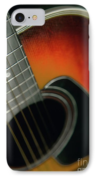 IPhone Case featuring the photograph  Guitar  Acoustic Close Up by Bruce Stanfield