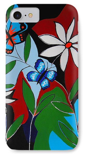 IPhone Case featuring the painting A Butterflies Paradise by Kathleen Sartoris