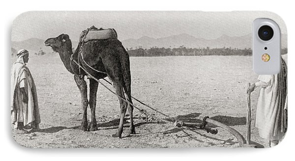 A Camel Plow Being Used In Algiers IPhone Case by Vintage Design Pics