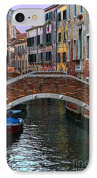 A Canal In Venice IPhone Case by Tom Prendergast
