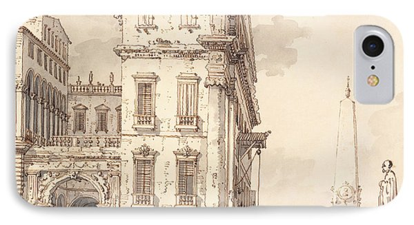 A Capriccio Of A Venetian Palace Overlooking A Piazza With An Obelisk IPhone Case