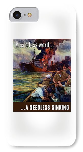 A Careless Word A Needless Sinking Phone Case by War Is Hell Store
