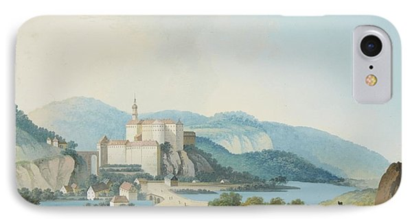 A Castle In A Mountainous Landscape IPhone Case by MotionAge Designs