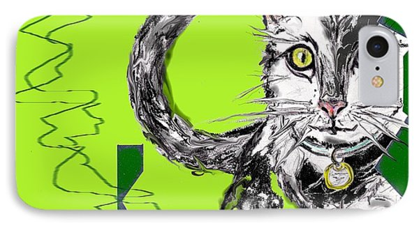 A Cat IPhone Case by Desline Vitto