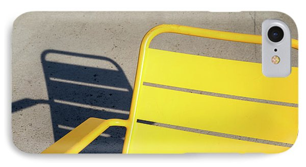 A Chair And Its Shadow IPhone Case by Joseph S Giacalone