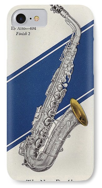 A Charles Gerard Conn Eb Alto Saxophone IPhone 7 Case by American School