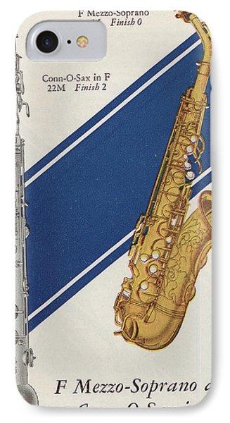 A Charles Gerard Conn F Mezzo-soprano IPhone Case