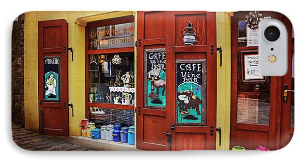 A Charming Little Store In Bratislava IPhone Case by Carol Japp