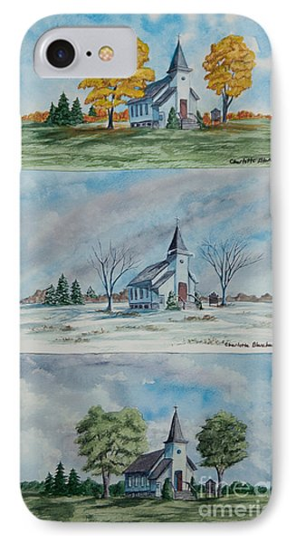 A Church For All Seasons Phone Case by Charlotte Blanchard
