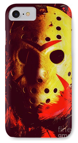 Hockey iPhone 7 Case - A Cinematic Nightmare by Jorgo Photography - Wall Art Gallery