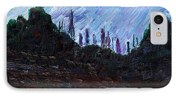 IPhone Case featuring the painting A City That Never Sleeps by Vadim Levin