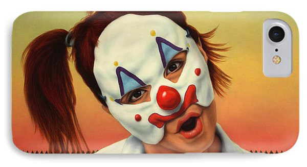 A Clown In My Backyard IPhone Case by James W Johnson