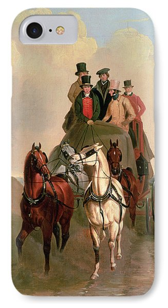 A Coach And Four On An Open Road  Phone Case by William Snr Shayer