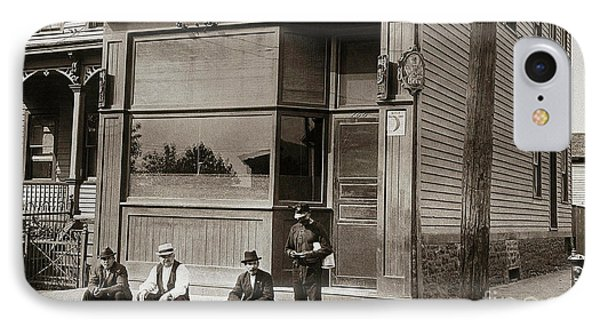 A Coal Miners Bar  George Ave Parsons Pennsylvania Early 1900s IPhone Case