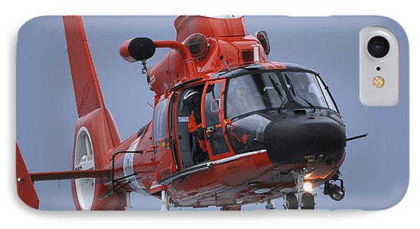 A Coast Guard Mh-65 Dolphin Helicopter Phone Case by Stocktrek Images