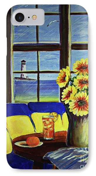 A Coastal Window Lighthouse View IPhone Case by Patricia L Davidson