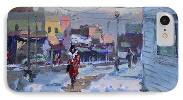 A Cold Afternoon In Tonawanda IPhone Case by Ylli Haruni