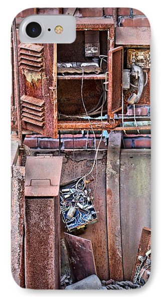 IPhone Case featuring the photograph A Collaboration Of Rust by DJ Florek
