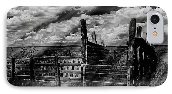 A Colorado Landscape In Black And White  IPhone Case by Liane Wright