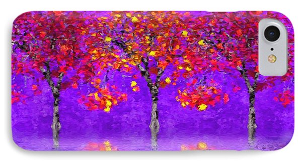 A Colorful Autumn Rainy Day IPhone Case by Gabriella Weninger - David