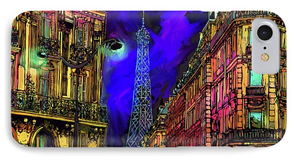 A Corner In Paris IPhone Case by DC Langer