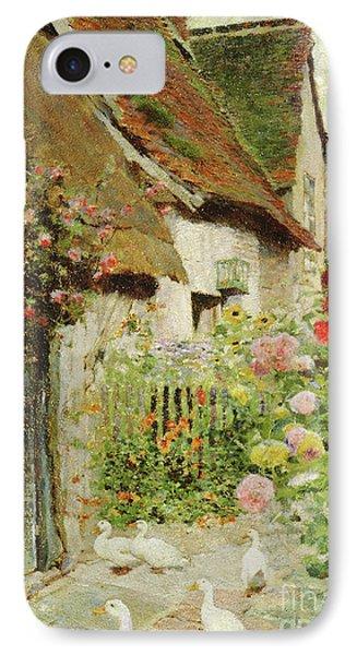 A Cottage Door IPhone Case by David Woodlock