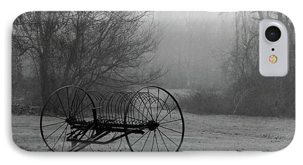 A Country Scene In Black And White IPhone Case
