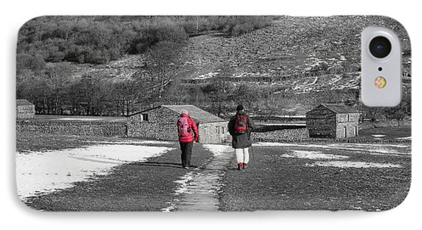 A Country Stroll IPhone Case by Nichola Denny