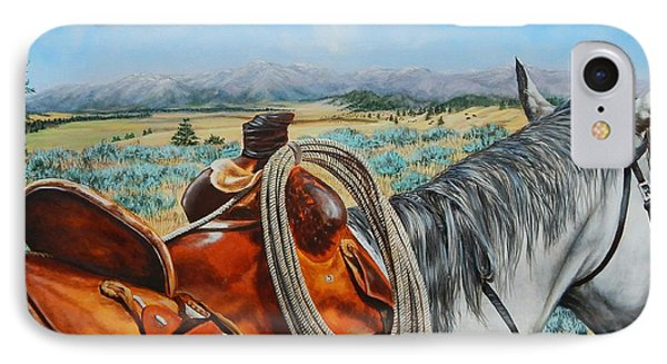 A Cowboy's View IPhone Case by Ruanna Sion Shadd a'Dann'l Yoder