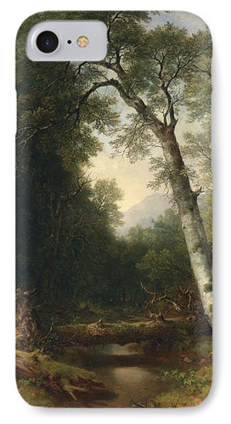 A Creek In The Woods IPhone Case by Asher Brown Durand